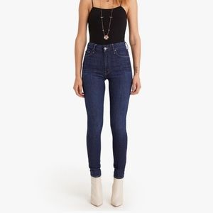 MOTHER The Looker High Rise Dark Wash Skinny Jeans